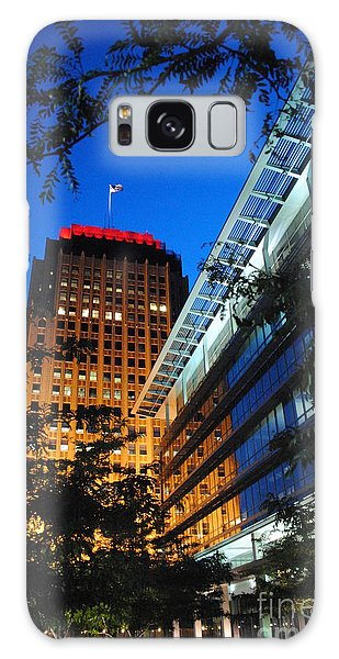 Evening At Ppl Plaza - Allentown Pa  Vertical Galaxy Case