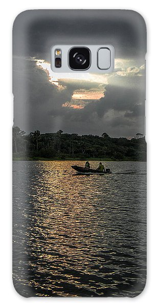 Evening Boat Ride Galaxy Case by Christy Usilton