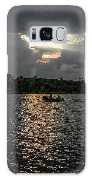 Evening Boat Ride Galaxy Case