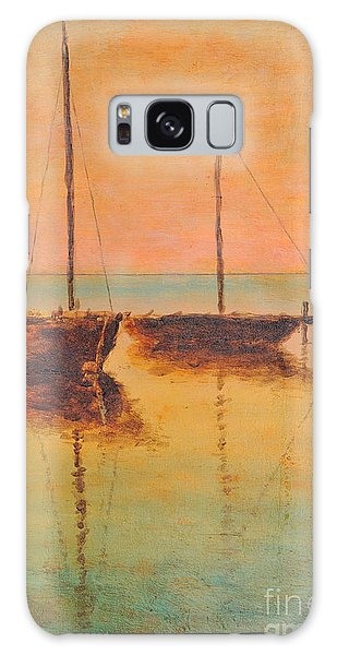 Evening Boats Galaxy Case