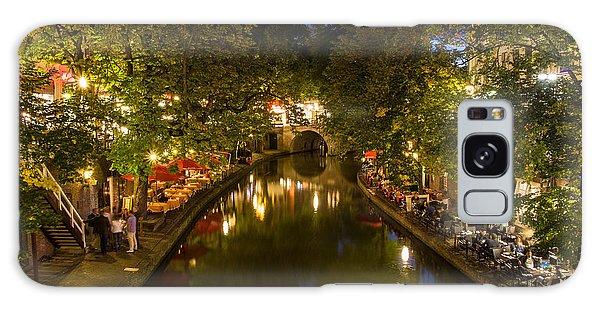 Evening Canal Dinner Galaxy Case