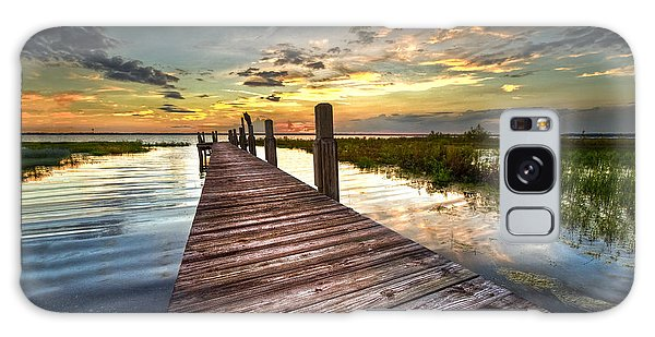 Evening Dock Galaxy Case by Debra and Dave Vanderlaan