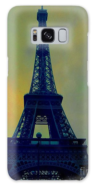 Evening Eiffel Tower Galaxy Case