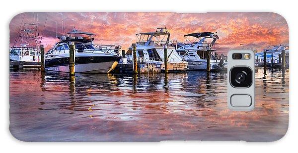Flagler Galaxy Case - Evening Harbor by Debra and Dave Vanderlaan