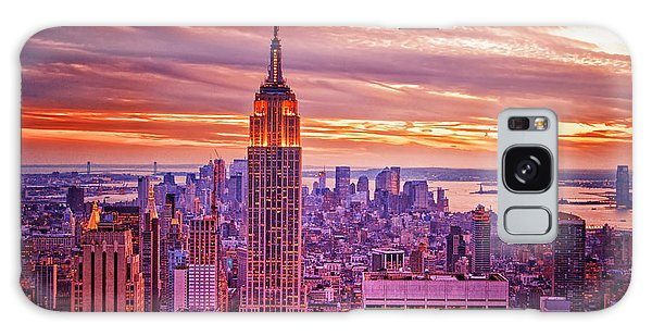 Evening In New York City Galaxy Case