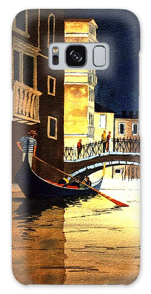 Galaxy Case featuring the painting Evening Lights - Venice by Bill Holkham