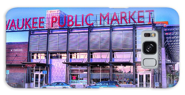Evening Milwaukee Public Market Galaxy Case