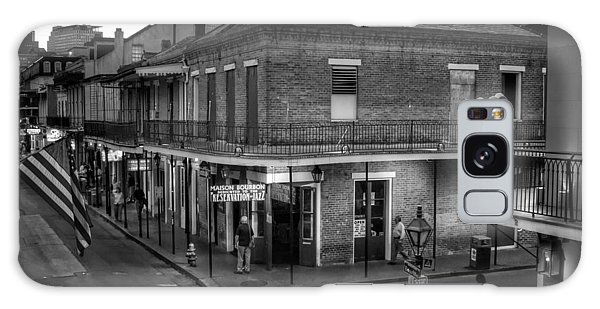 Evening On Bourbon In Black And White Galaxy Case