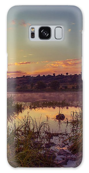 Evening On The Quiet River Galaxy Case