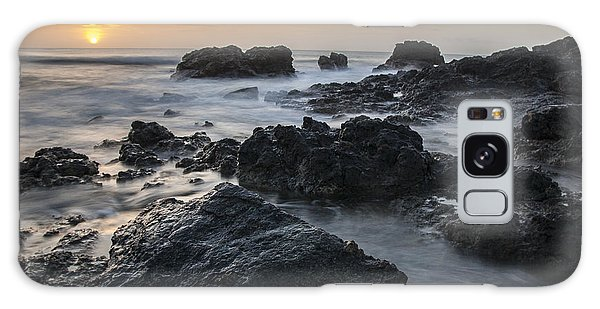 Evening On The Rocky Shore Galaxy Case