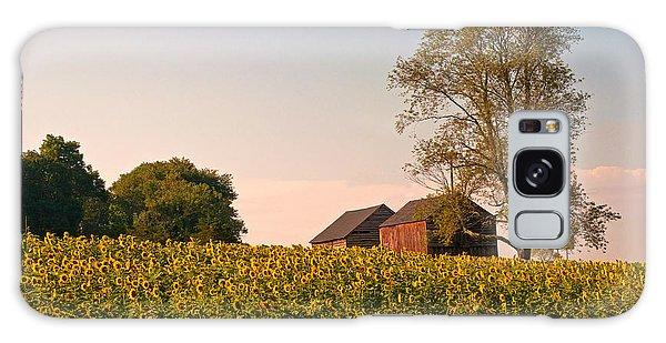 Evening On The Sunflower Farm Galaxy Case by Nancy De Flon
