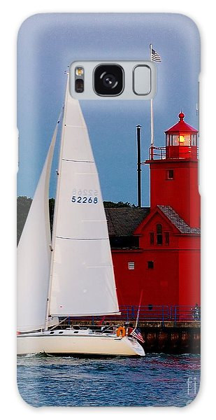 Evening Sail At Holland Light Galaxy Case