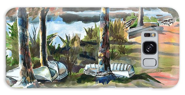 Evening Shadows At Shepherd Mountain Lake  No W101 Galaxy Case