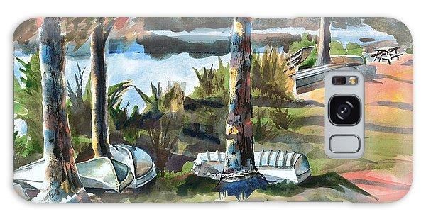 Evening Shadows At Shepherd Mountain Lake  No W101 Galaxy Case by Kip DeVore