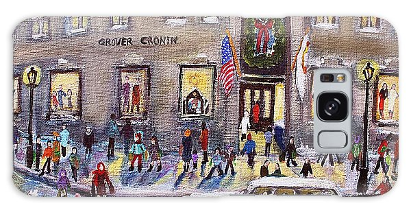 Evening Shopping At Grover Cronin Galaxy Case by Rita Brown
