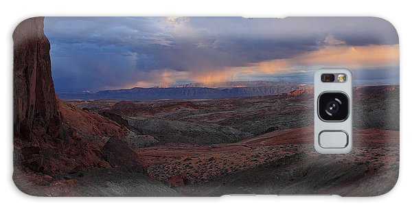 Evening Storm At Nevada's Valley Of Fire Galaxy Case