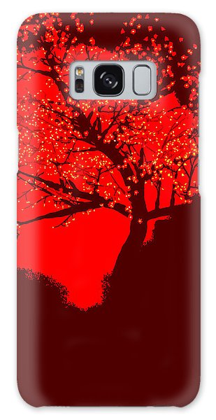 Evening Tree Galaxy Case
