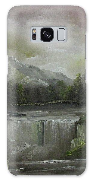 Evening Waterfalls Galaxy Case