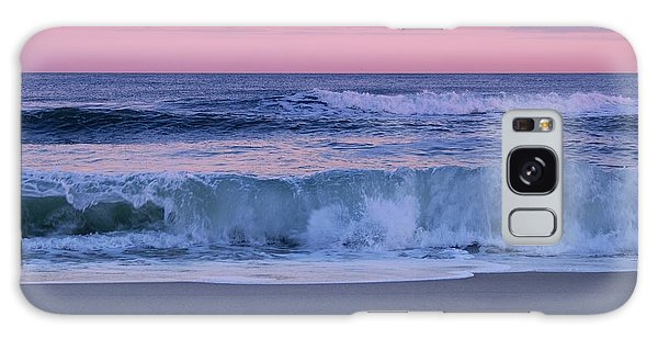 Ocean Sunset Galaxy S8 Case - Evening Waves - Jersey Shore by Angie Tirado