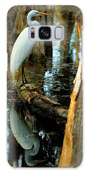 Everglades Egret Galaxy Case by Daniel Woodrum