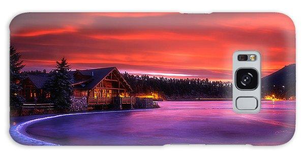 Evergreen Lake Sunrise Galaxy Case