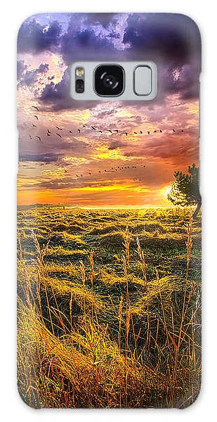 Every Story Has A Beginning Galaxy Case by Phil Koch
