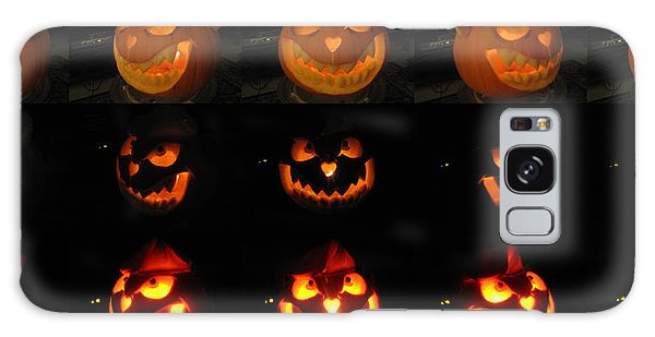 Galaxy Case featuring the sculpture Evil Flippy Pumpkin by Shawn Dall