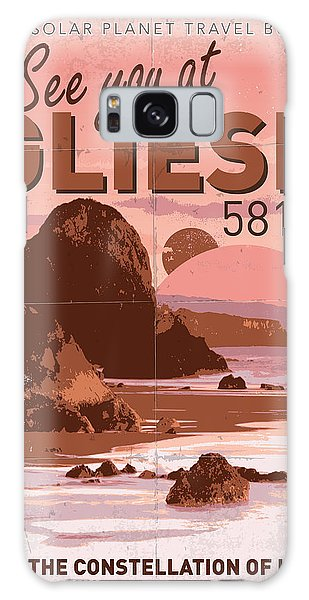 Aliens Galaxy Case - Exoplanet 01 Travel Poster Gliese 581 by Chungkong Art
