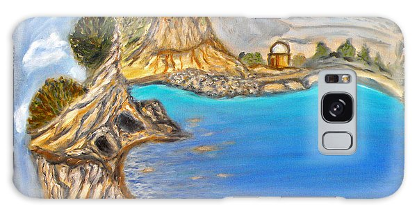 Strange Clouds Galaxy Case - Exotic Beach Near Limassol by Augusta Stylianou