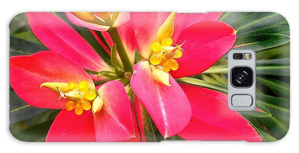 Exotic Red Flower Galaxy Case