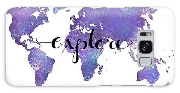 Travel Galaxy Case - Explore World Map Painting by Michelle Eshleman