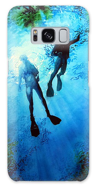 Scuba Diving Galaxy Case - Exploring New Worlds by Hanne Lore Koehler