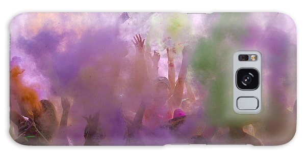 Galaxy Case featuring the photograph Explosion Of Colour by Debbie Cundy