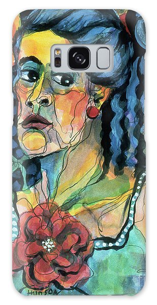 expressive portraits of women - The Faded Rose Galaxy Case
