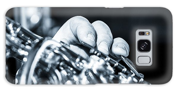 Extreme Close Up Of Fingering Of French Horn Galaxy Case