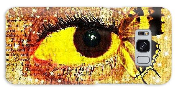 Edit Galaxy Case - #eye #butterfly #brown #black #edit by Tatyanna Spears
