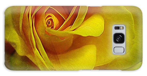Eye Of Rose Galaxy Case by Shirley Sirois