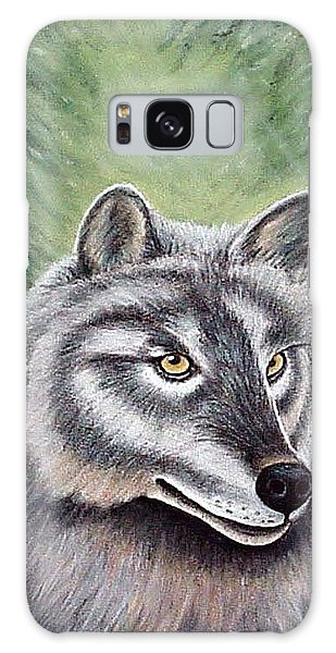 Eyes Of The Forest - Grey Wolf Galaxy Case