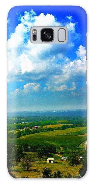 Eyes Over Farmland Galaxy Case by Jeff Kurtz