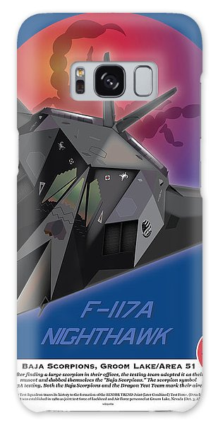F-117 Nighthawk Baja Scorpions Galaxy Case