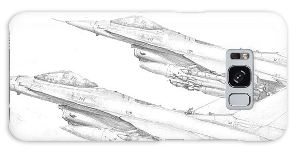 F-16's On Attack Galaxy Case by Jim Hubbard