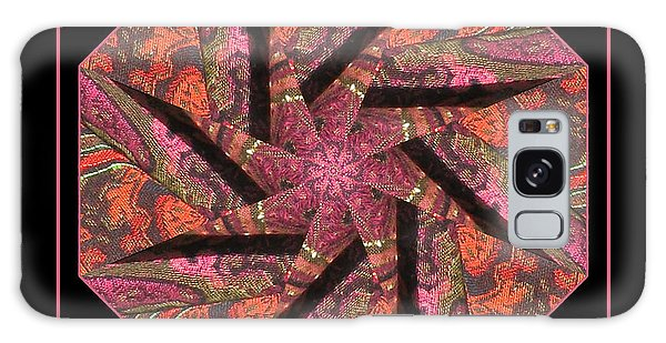 Fabric In A Spin Galaxy Case by Barbara MacPhail