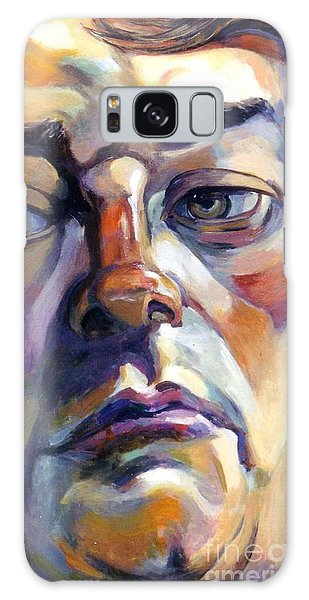 Face Of A Man Galaxy Case by Stan Esson
