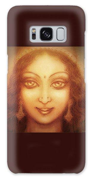 Face Of The Goddess/ Durga Face Galaxy Case by Ananda Vdovic