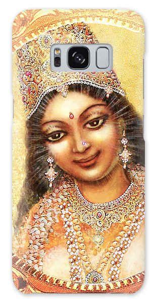 Face Of The Goddess - Lalitha Devi  Galaxy Case by Ananda Vdovic