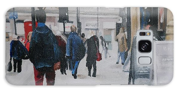Faceless Crowd Galaxy Case by Cherise Foster
