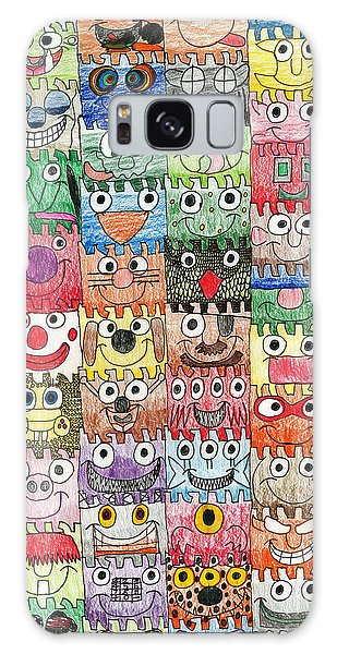 Faces Puzzle Poster Galaxy Case