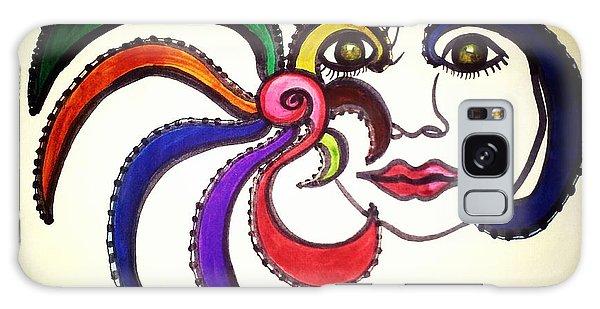 Facial Makeup 1 Galaxy Case by Ayasha Loya