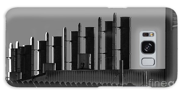Factory Chimneys On The Roofs Galaxy Case