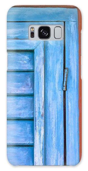 Faded Blue Shutter IIi Galaxy Case